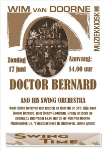 publicatie17juni 211x300 Swing Time Eindhoven: Party mit Dr Bernard and His Swing Band